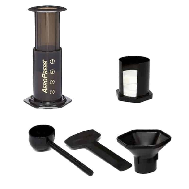Aeropress do kawy elementy zestawu