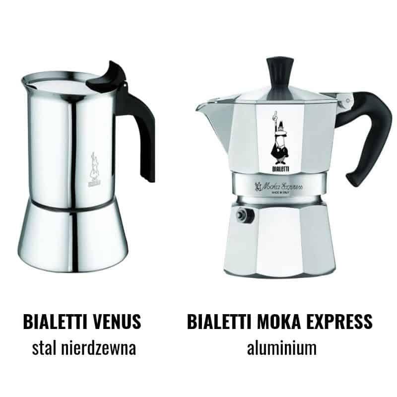 Bialetti Venus a Bialetti Moka Express porównanie kawiarek