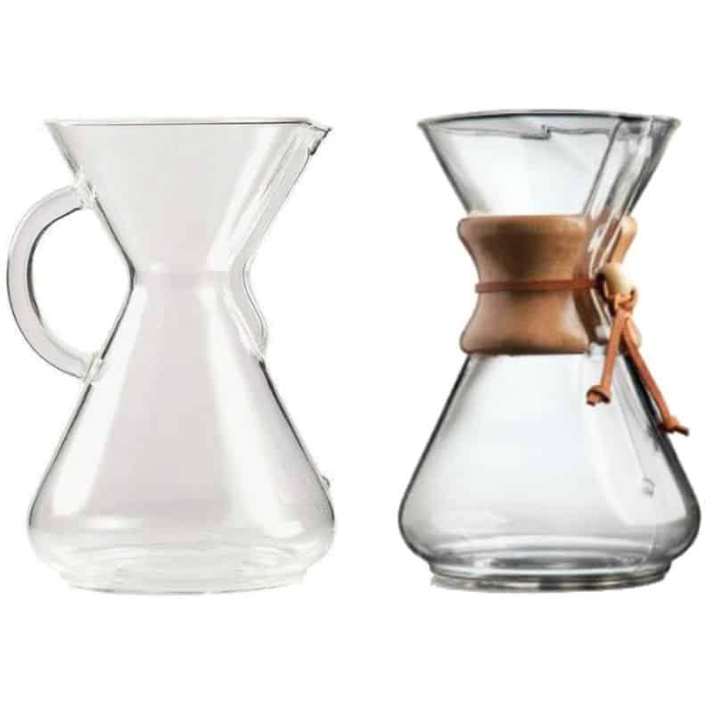 Chemex szklany i klasyczny
