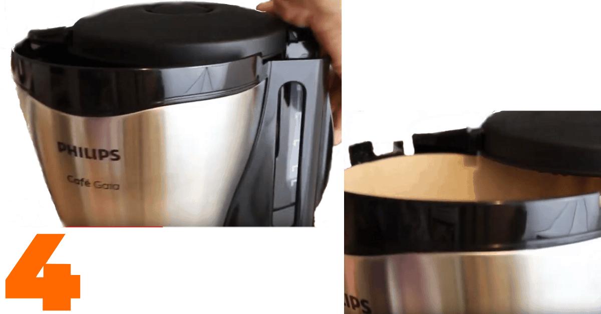 wkłądanie filtra papierowego do philips cafe gaia