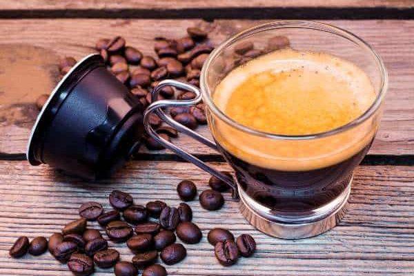 Kawa przygotowana z kapsułki
