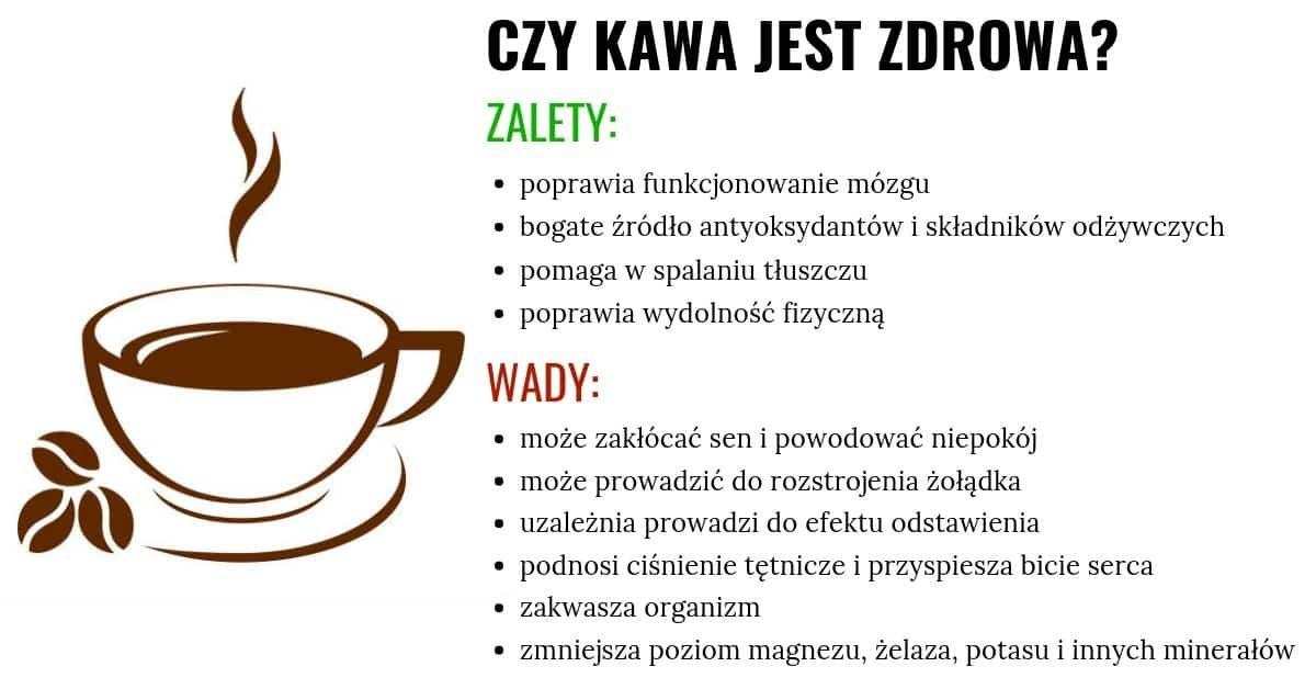 zalety i wady picia kawy